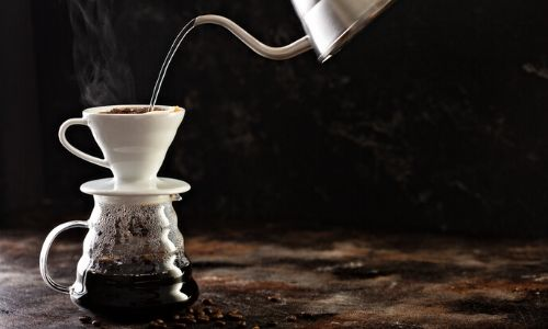 Pour-over/drip with a coffee cone_easyfood