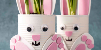 Easter Bunny plant pot