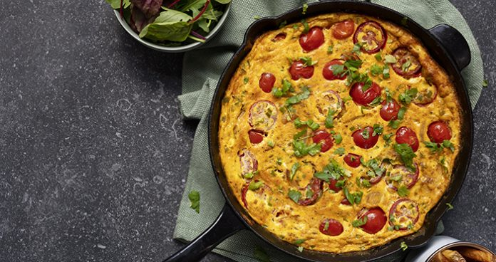 Indian-spiced-frittata easy food