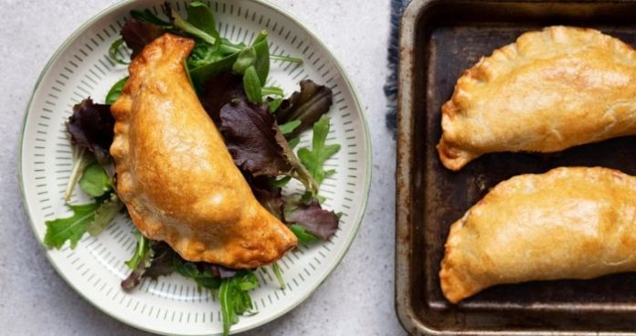 Sweet potato, lentil and kale pasties