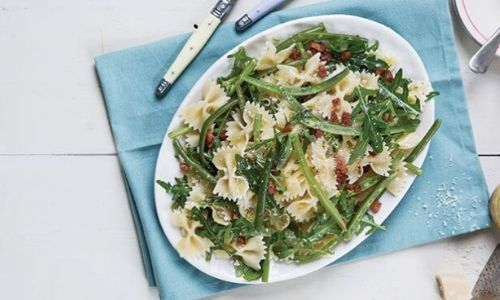 Lemon bacon and green bean pasta salad_easyfood