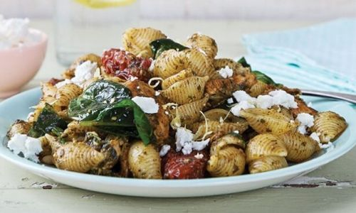 Chicken lemon and sun-dried tomato pesto pasta_easyfood