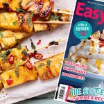 Caramelised pineapple skewers Easy Food front cover summer July August 2020 issue 149