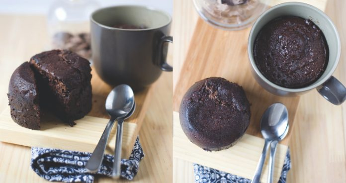 chocolate cake in just 4 minutes