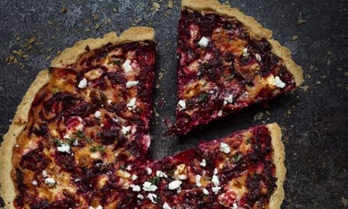 Beetroot and feta quiche_easyfood