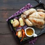Easy roast chicken with lemon and thyme sauce_easyfood