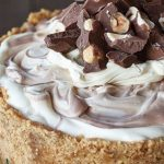 Irish cream and nutella marbled cheesecake_easyfood_showstopper