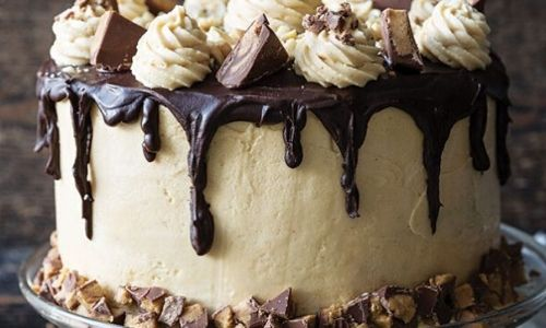 Chocolate peanut butter cake_easyfood_showstopper