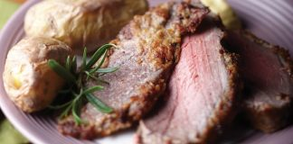 Beef fillet with caesar crust