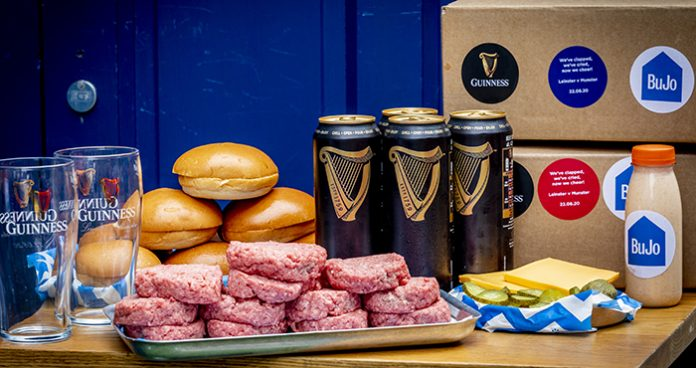 Guinness x BuJo meal kits rugby at home Easy Food