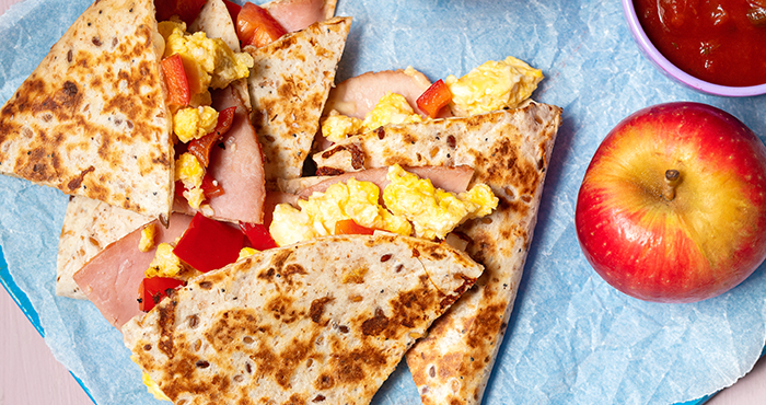 Ham, cheese and egg quesadilla Easy Food
