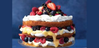 summer berry lemon cake