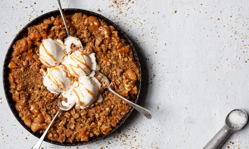 Salted caramel apple crumble easy food