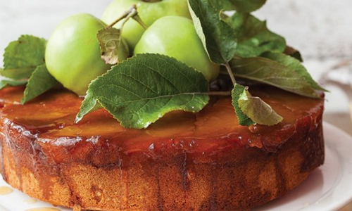 Caramel and apple upside down cake easy food