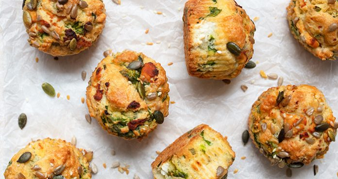 Goats_Cheese_Spinach_Muffins Easy Food