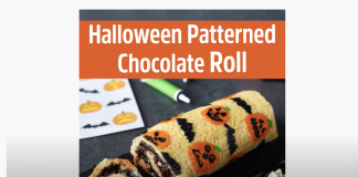 halloween patterned roll cake dr Oetker