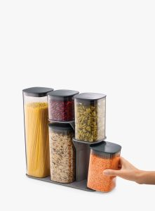 Christmas gift guide_easyfood_Five-piece storage jar set with stand