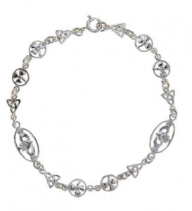 Christmas gift guide_easyfood_Hallmarked sterling silver bracelet with Trinity knot shamrock Claddagh design