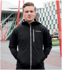 Christmas gift guide_easyfood_Black Guinness soft shell jacket with harp design