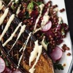 Roasted aubergine with lentil and herb salad_easyfood