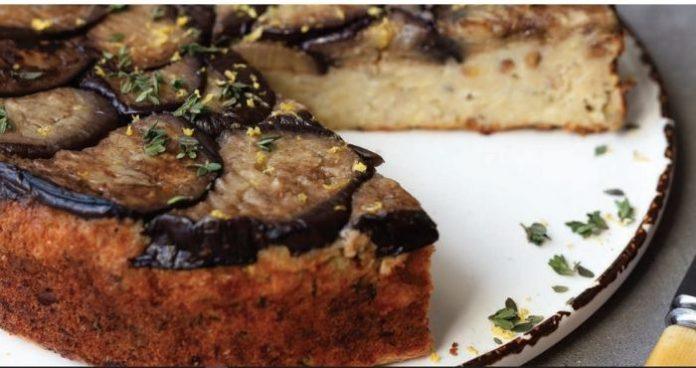 Aubergine upside down cake easyfood christmas dinner