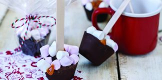 caramel hot chocolate stirrers