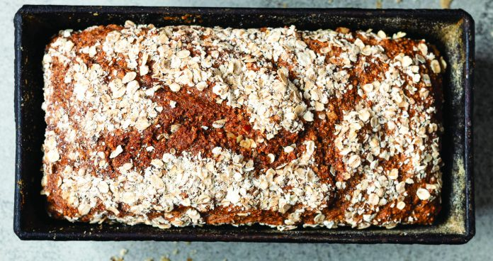 Guinness, honey and oat brown bread