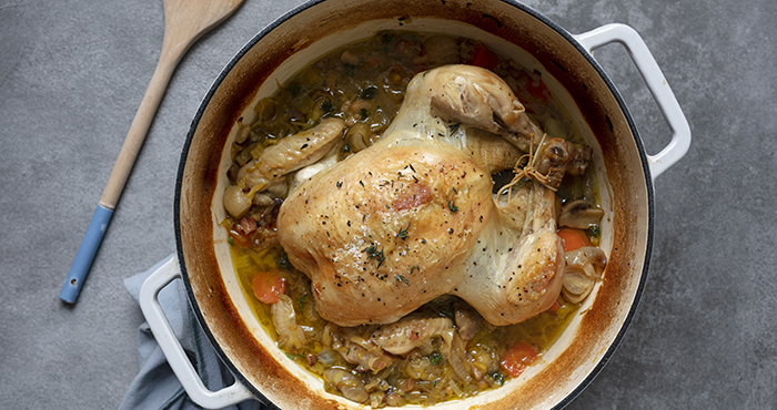 Easy Food 153 Herby one-pot chicken
