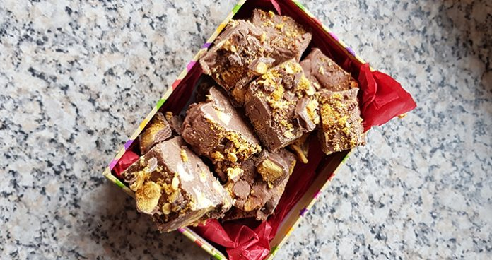 Crunchie fudge