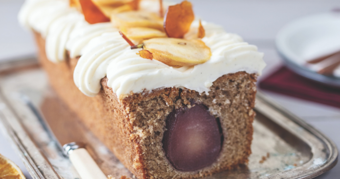 Mulled pear loaf cake easy food