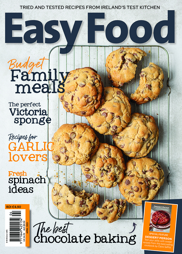 Easy Food magazine April 2021 issue 155 front cover