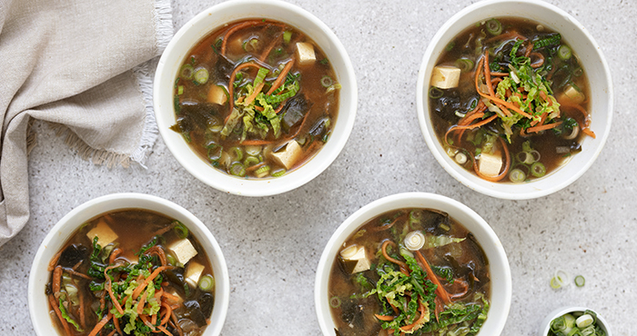 Miso and vegetable soup Easy Food