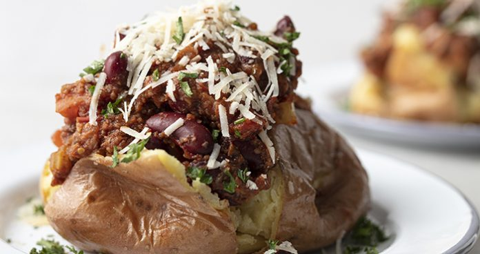Mushroom Chilli Baked Potato Easy Food