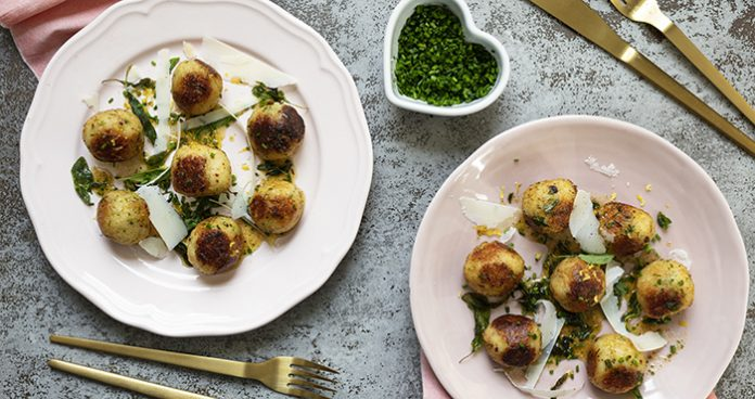 Ricotta gnudi with sage butter