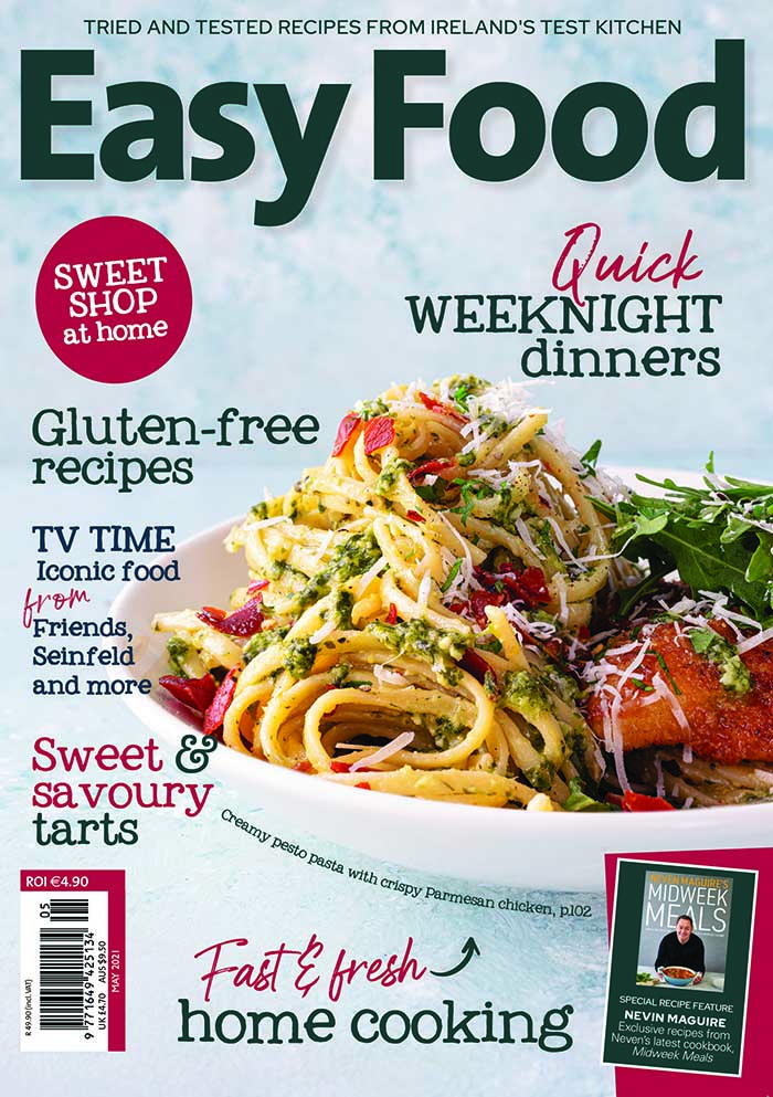 Easy Food magazine front cover May 2021 issue 156