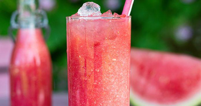 Strawberry and watermelon slushy