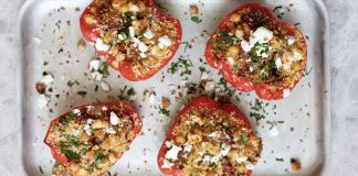 ROAST PEPPERS WITH MOROCCAN COUSCOUS